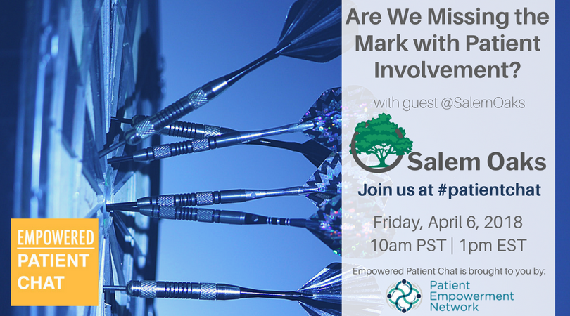 Empowered #patientchat - Are We Missing the Mark with Patient Involvement?