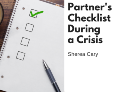 Care Partner's Checklist During a Crisis