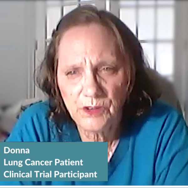 Lung Cancer: Donna's Clinical Trial Profile