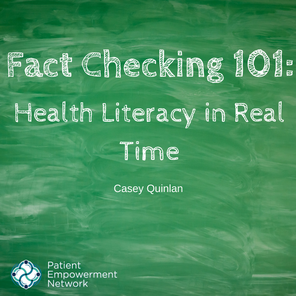 Fact Checking 101: Health Literacy in Real Time