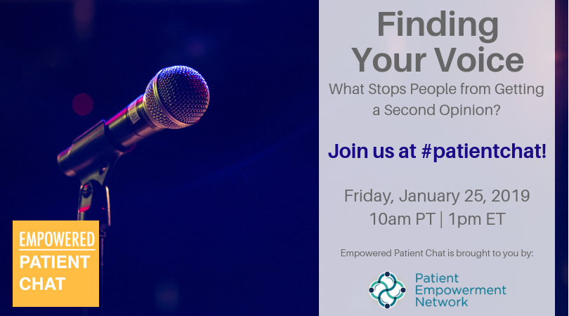Finding Your Voice #patientchat