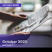 Oct 2020 Notable News