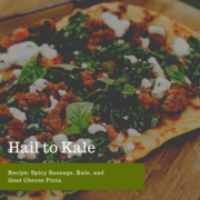 Spicy Sausage, Kale, and Goat Cheese Pizza