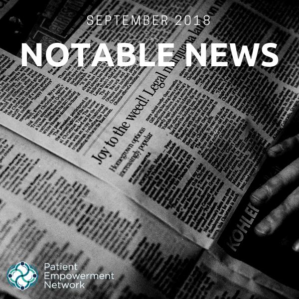 September 2018 Notable News